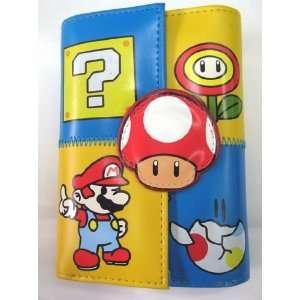 MARIO BROS. Super Mushroom Paper Mario Blue Wallet Toys