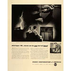 1945 Ad RCA Victor Super FM Radio Corporation America   Original Print