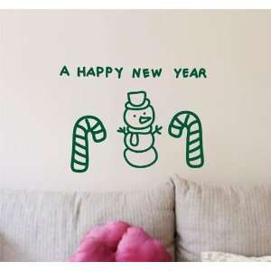 Large  Easy instant decoration wall sticker wall mural  Happy Newy