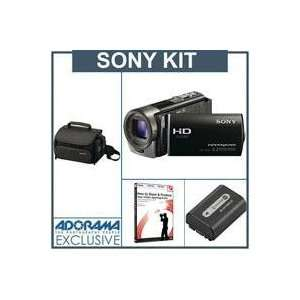 Sony HDR CX130/B Full HD Memory Card Camcorder   Black