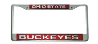 Ohio State Buckeyes Chrome Laser License Plate Frame 094746404161
