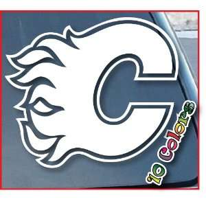 Calgary Flames Car Window Vinyl Decal Sticker 7 Wide (Color White)