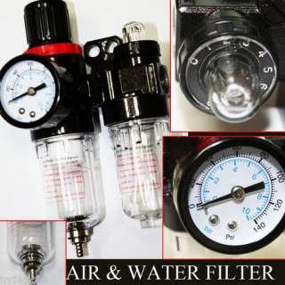 Air & Water Filter with Regulator Lubricator Pressure Gauge IS09001