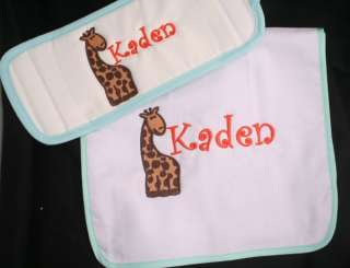 Personalized Monogrammed Baby Burp Cloth Boy Many Choices
