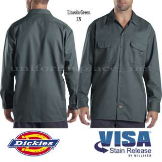 Dickies SHIRT LONG SLEEVE Work Shirts button down S M L XL 2X 3X 4X