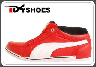 Puma 65cc Ducati High Risk Red White 2011 New Mens Motor Sport Shoes