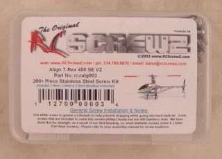 Align T Rex 450 V2 Stainless Steel Screw Kit (200+)