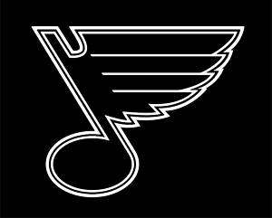 St. Louis Blues Vinyl Car Window Sticker/Decal (white)