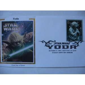 YODA Stamp on Envelope   First Day of Issue, Colorano SILK Cachet