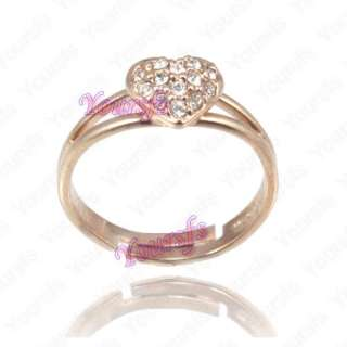 Use Swarovski Crystal Heart Love Wedding Ring Size8# R056R1