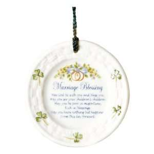 Belleek 3 Inch Marriage Blessing Ornament