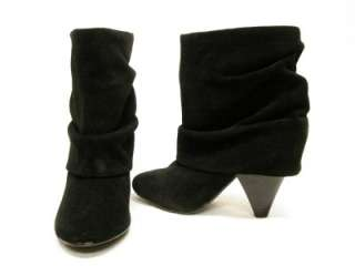 STEVE MADDEN*CARLSEN*BLACK SUEDE ANKLE SLOUCH BOOTS 7.5