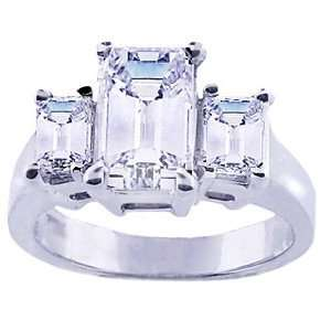 Stone Ring Emerald Cut Diamond (1.25 ct.tw.) Evyatar Rabbani Jewelry