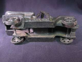Cast Iron Antique Car Model  T Convertible Automobile Stage Coach