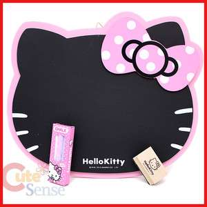 Hello Kitty Face Blackbord w/Chalk and Eraser 11x10 Pink Bow
