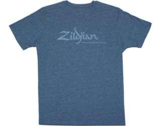 Zildjian Cymbals Classic Blue Logo Tee T Shirt M L XL