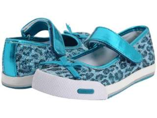 NEW TODDLER GIRLS STRIDE RITE SHOES LIZA TURQUOISE LEOPARD SIZE 9 NO
