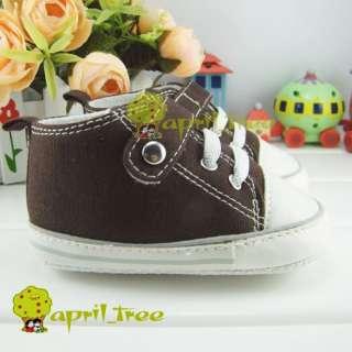 Brown Toddler Infant Baby Boy shoes Sneaker(C25B)3 6M free ship