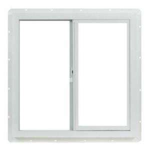 Vinyl Slider Windows, 36 in. x 36 in. White with Single Glazed Glass