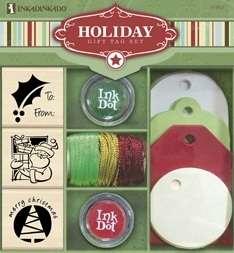 Inkadinkado Christmas Holiday Stamp Gift Tag Set 97003