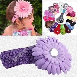 17 X Flower Baby Toddler Girls Hair Bow Clip Headband
