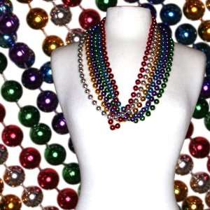 33 in 12mm Round Assorted Colored Mardi Gras Bead Case