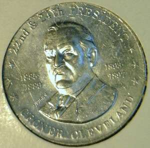 Cleveland Commemorative Mr. President Shell Game Medal   Token   Coin