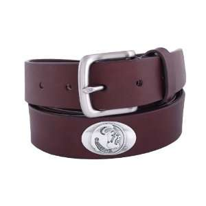 State Seminoles Brown Leather Concho Belt, 38