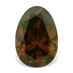 0.33 Carat Egg Shape Real Loose Cognac Red Diamond