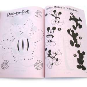 Mickey Mouse Club House Giant Book to Color Geared Up For Fun Puzzles