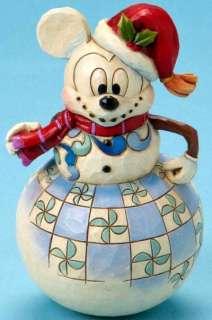 2010 JIM SHORE DISNEY *SWAYING MICKEY SNOWMAN* FREE SH