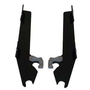 Shades Plates Only Kit for Batwing Fairing   Black MEK1854 Automotive