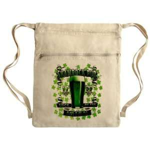 Messenger Bag Sack Pack Khaki Shamrock Pub Luck of the Irish 1759 St