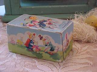 ! VINTAGE FANNY FARMER EASTER CANDY BOX BUNNY RABBIT DUCK CHICKS EGGS