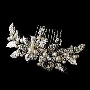 Rhinestone & Pealr Vintage Bridal Hair Comb Jewelry