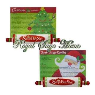 Santas Christmas Bake Shop Rolling Pin Recipe Card Holder