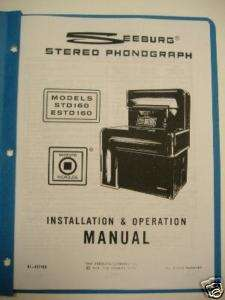 Seeburg STD160 Jukebox Installation & Operation Manual