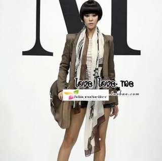 Women Korean Fashion Big Zebra Scarf Shawl 3 Colors