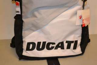 DUCATI CORSE PUMA TEAM BACK PACK BAG BLACK NEW FOR THE 2012 COLLECTION