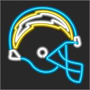 SAN DIEGO CHARGERS LOGO NEON WALL OR WINDOW LIGHT SIGN