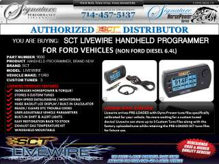 SCT Livewire Handheld Programmer   Ford Car/Truck/SUV Non 6.4L IN