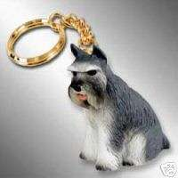 schnauzer key chain great gift for new pet , home