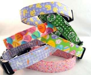 Shamrocks and Polka Dots Green St Patricks Day Dog Collar