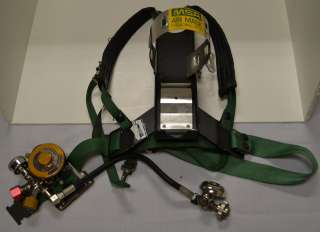 MSA SCBA Air Pack Pak, Model 401, Green Straps, Industrial Spec (Used
