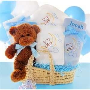 Baby Nap Time Personalized Baby Boy Gift Basket Baby