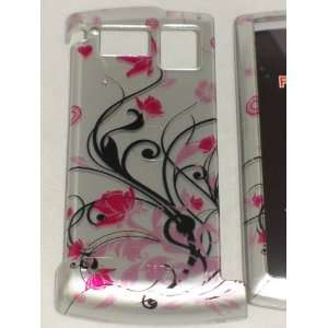 Sanyo Incognito 6760 Flower Tattoo Pink Design Hard Case Cover Skin