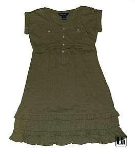 NWT Ralph Lauren Girls Safary Cotton Jersey Shirt Dress