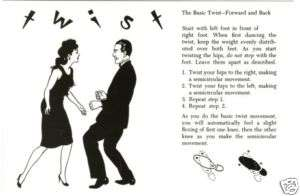 Postcard Of The Twist Dance Steps Diagram Ebay on Rumba Dance Steps Diagram