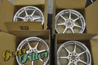 Enkei RS7 18x7.5 5x114.3 +35 Silver Machined Lip Wheel/Rim Altima