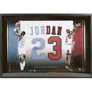 Signed Jordan Picture   North Carolina Framed 23x33 Number